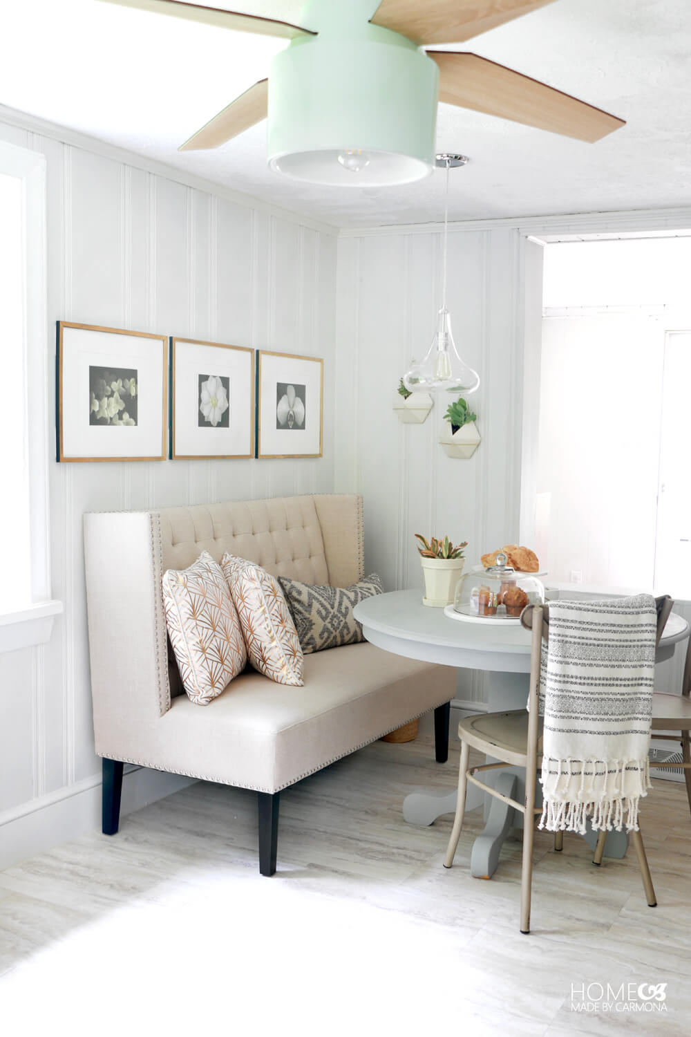 Eat-in breakfast nook - small kitchen makeover