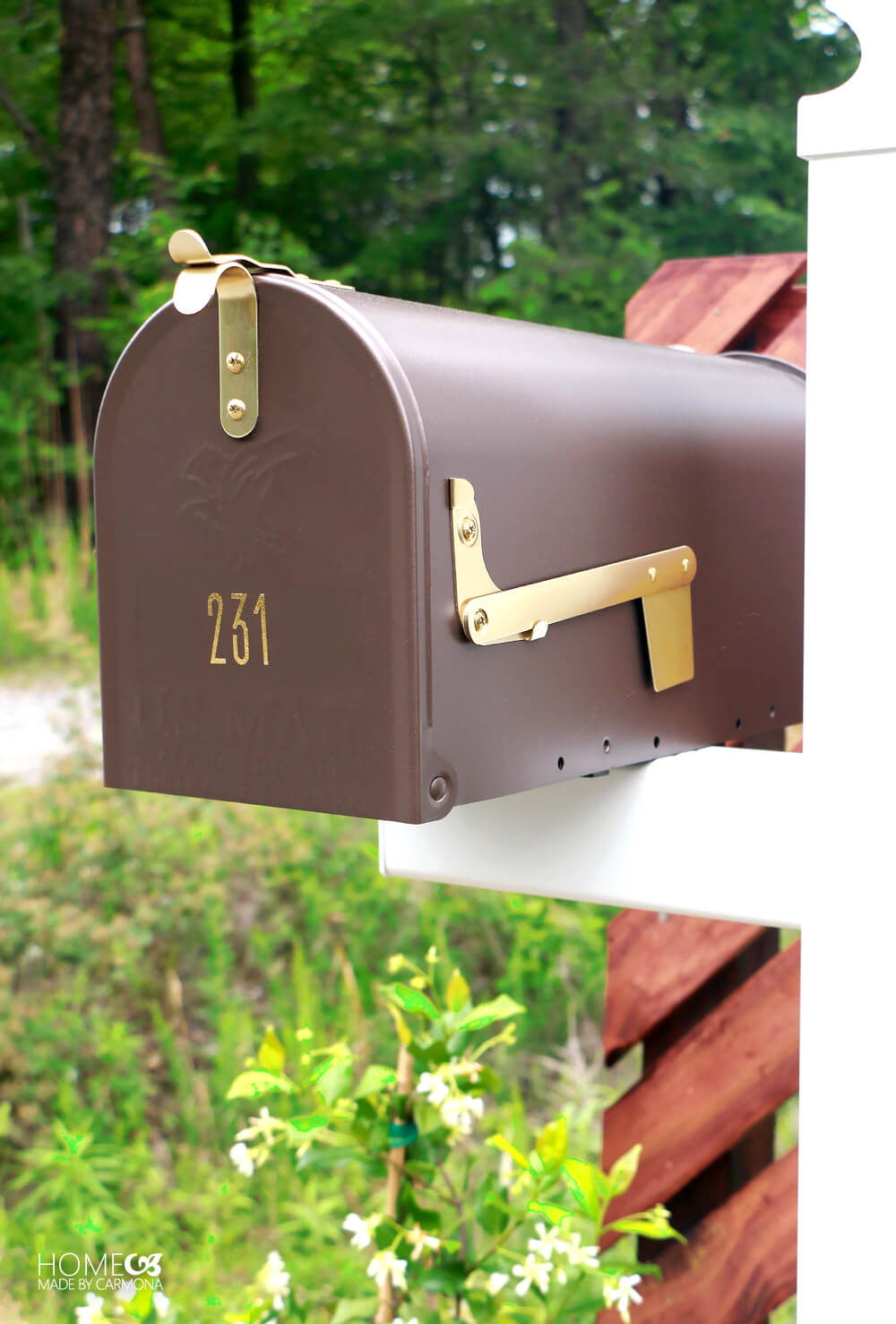 Gibraltar Madison Venetian Bronz post mount mailbox