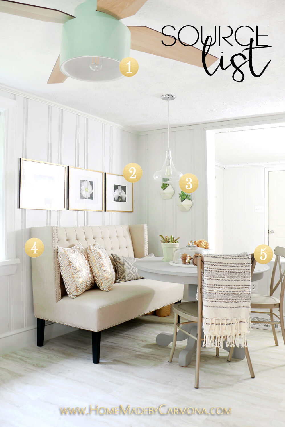 Source List - Kitchen Eat-in Breakfast Nook