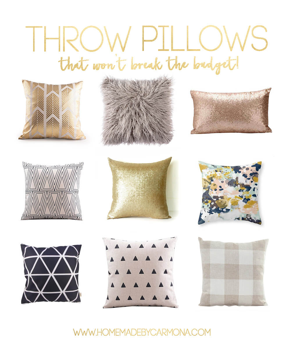 30+ Throw Pillows that wont break the bank