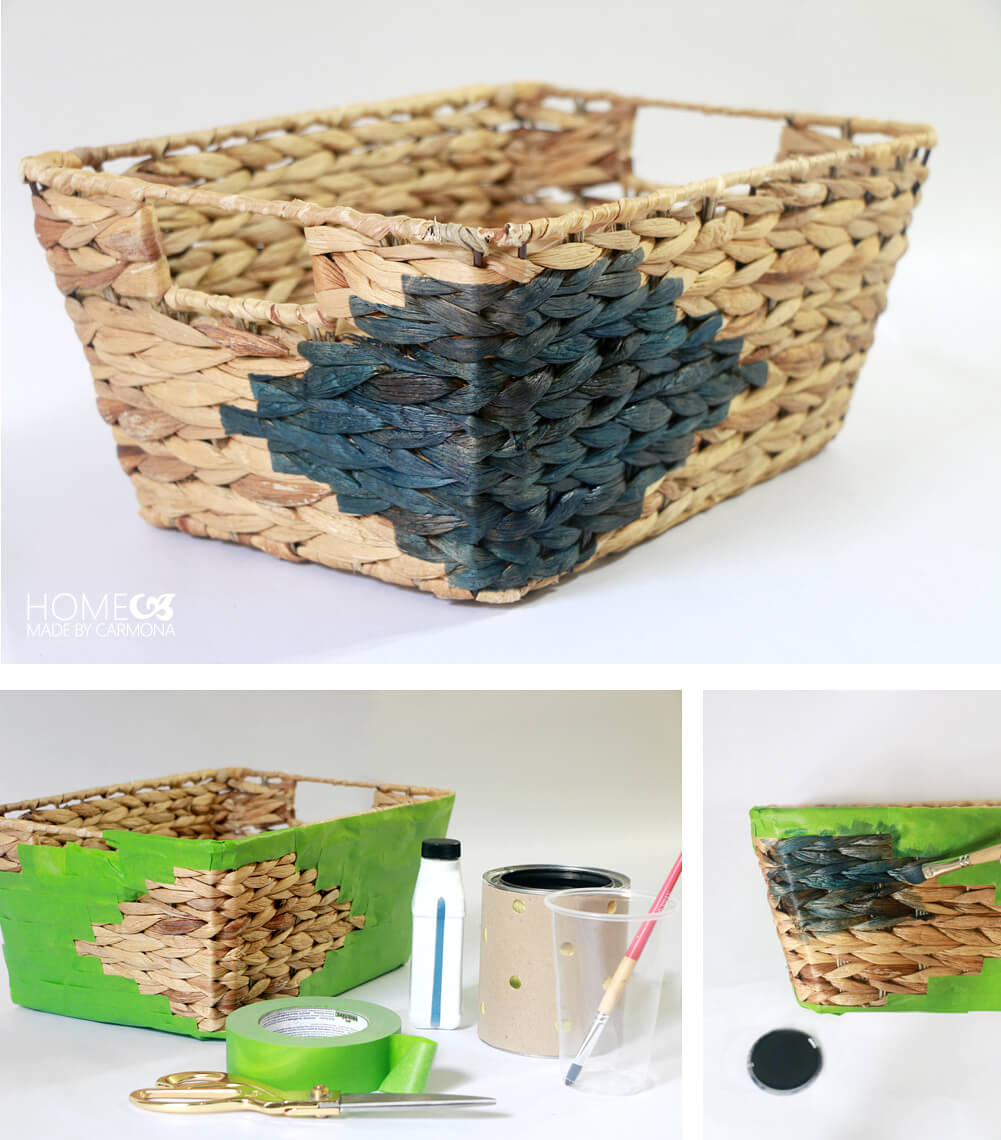 Basket hack - DIY Aztec Design