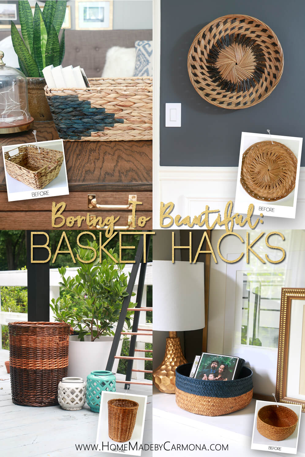 Boring To Beautiful - Awesome Basket Hacks