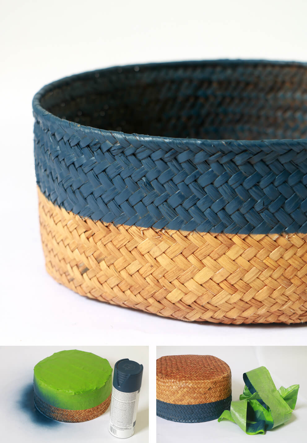 DIY Basket Design - Color blocking