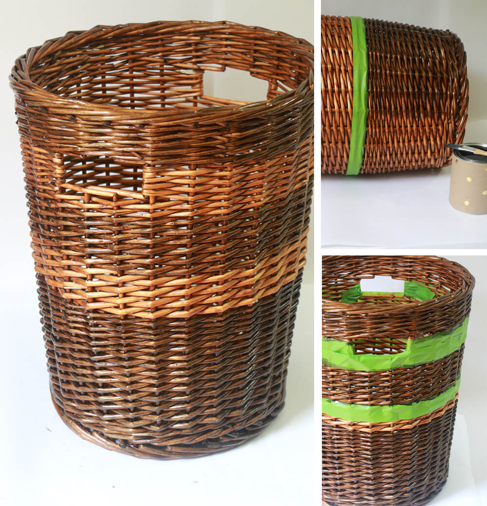 DIY Basket Design - adding stripes