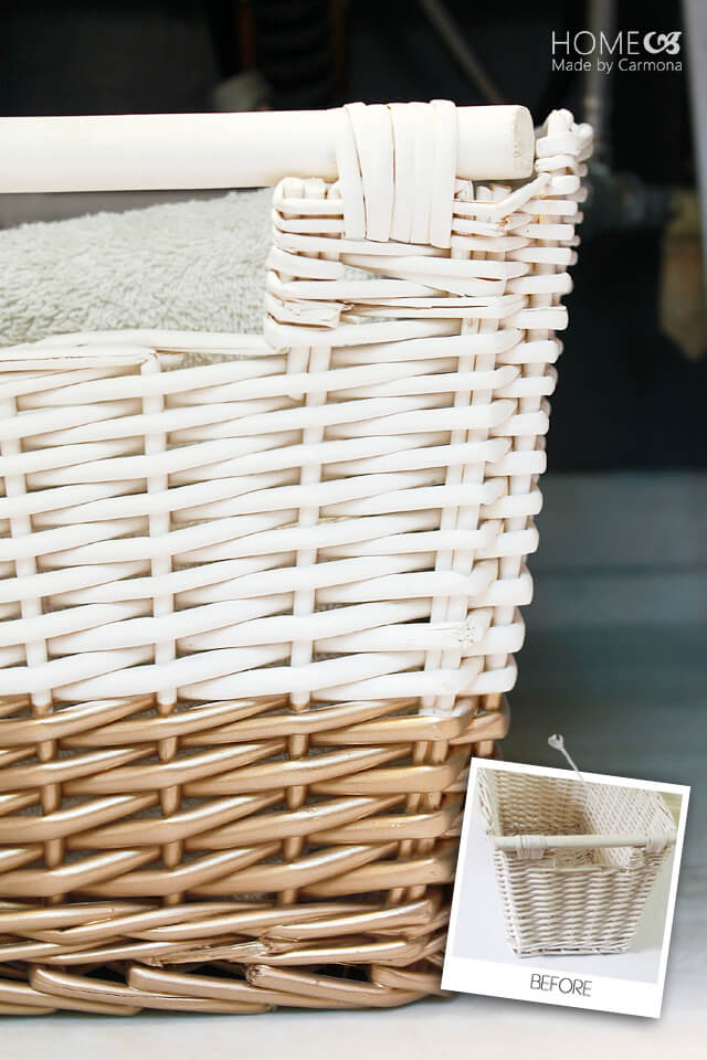 Gold dipped basket style