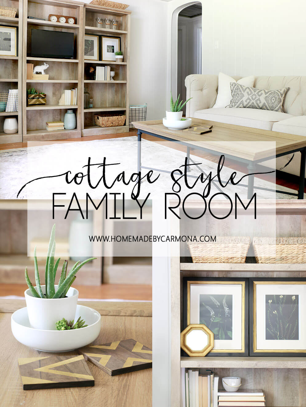 Cottage Style Family Room Makeover Tips
