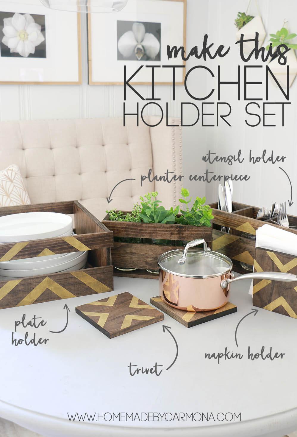 How To Make A DIY Kitchen Holder Set