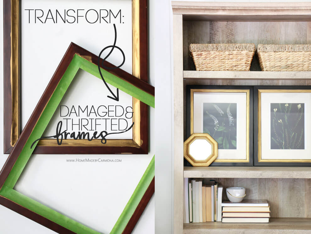 How to tranform damaged and ugly thrifted frames