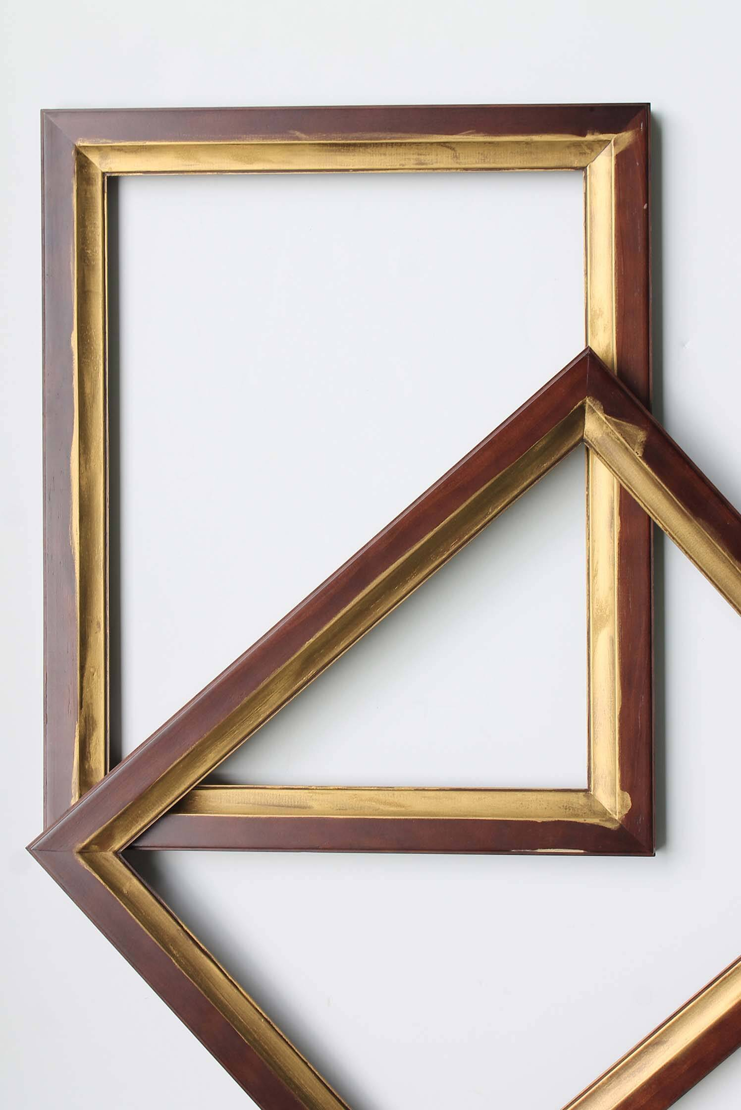 Rub-n-buff gold on a frame