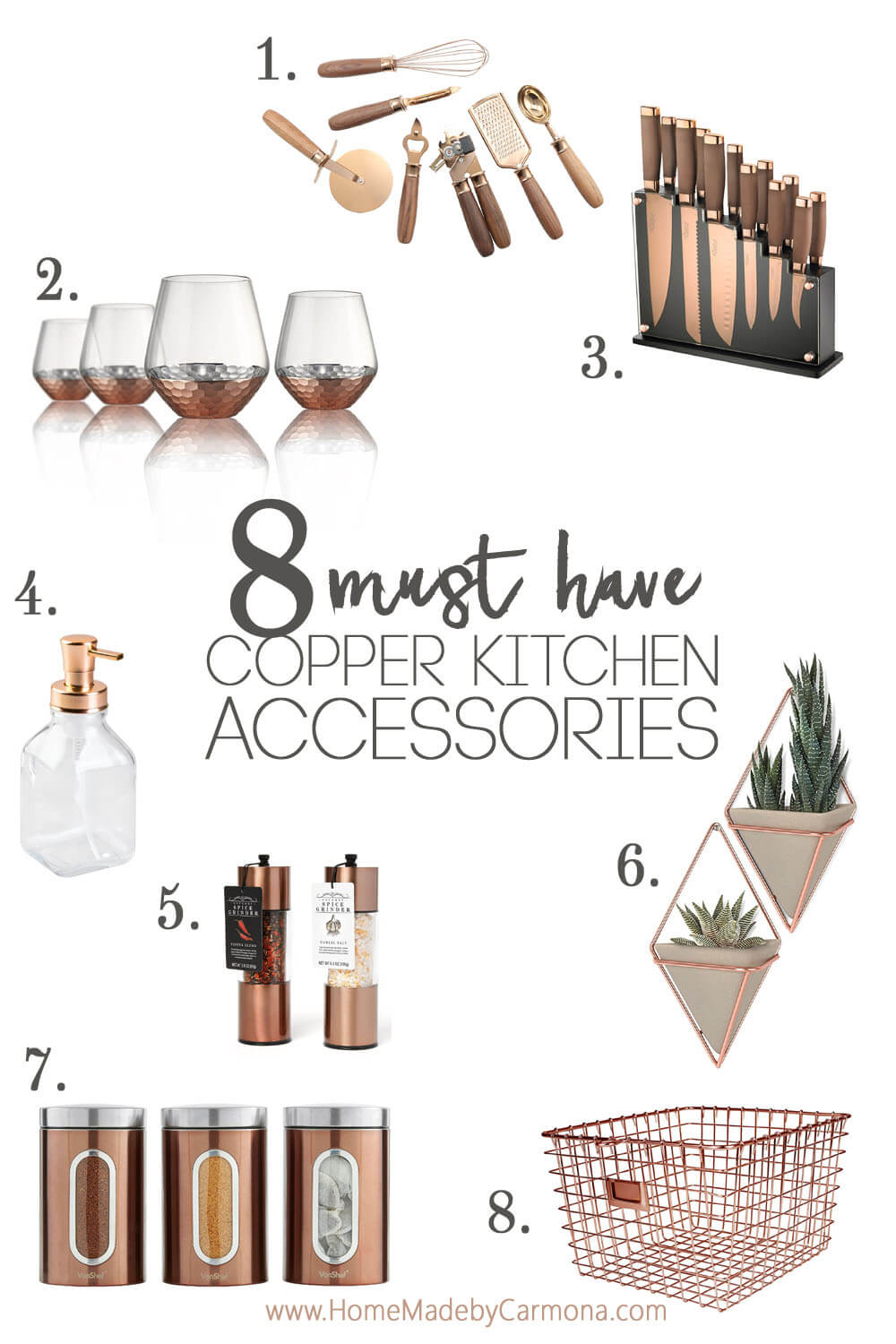 8 Must Have Copper Kitchen Accessories