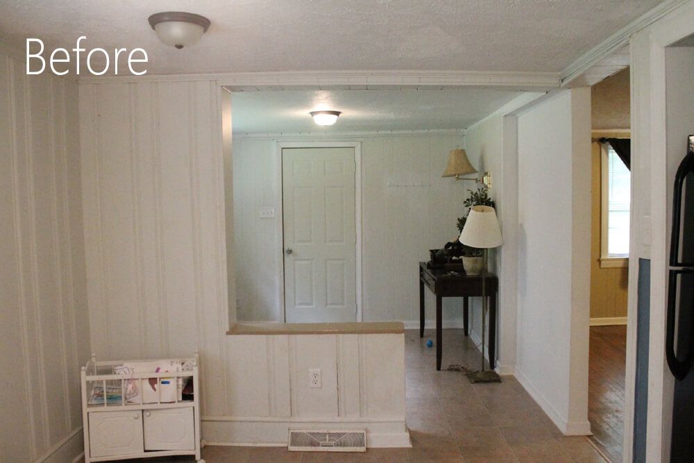 Eating Nook and Entryway - Before