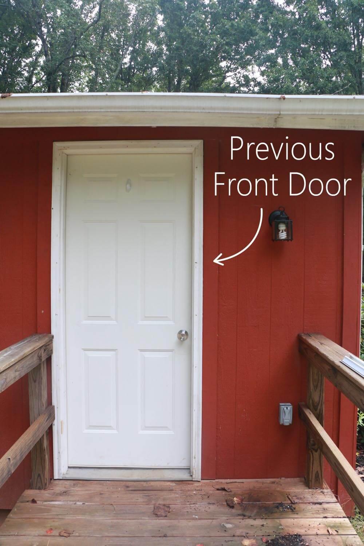Previous Front Door - boring before
