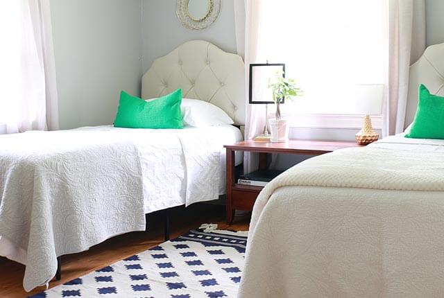 Twin Bedroom Before and After - featured image