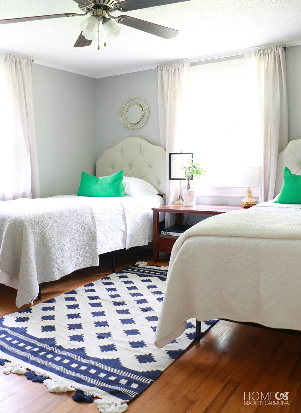 Twin Bedroom Before and After