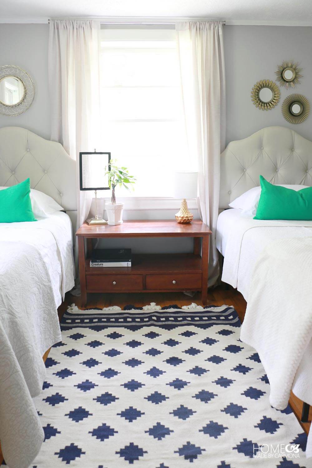 Twin Bedroom Makeover