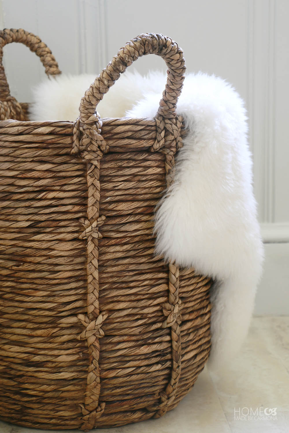 Basket with furs