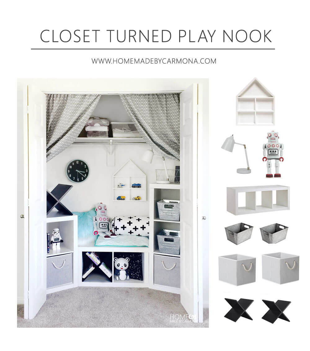 CLoset Turned Play Nook - Copy The Room
