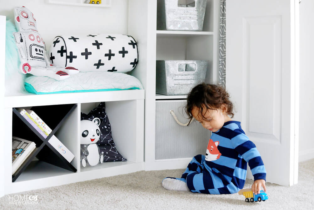 Closet Turned Play Nook