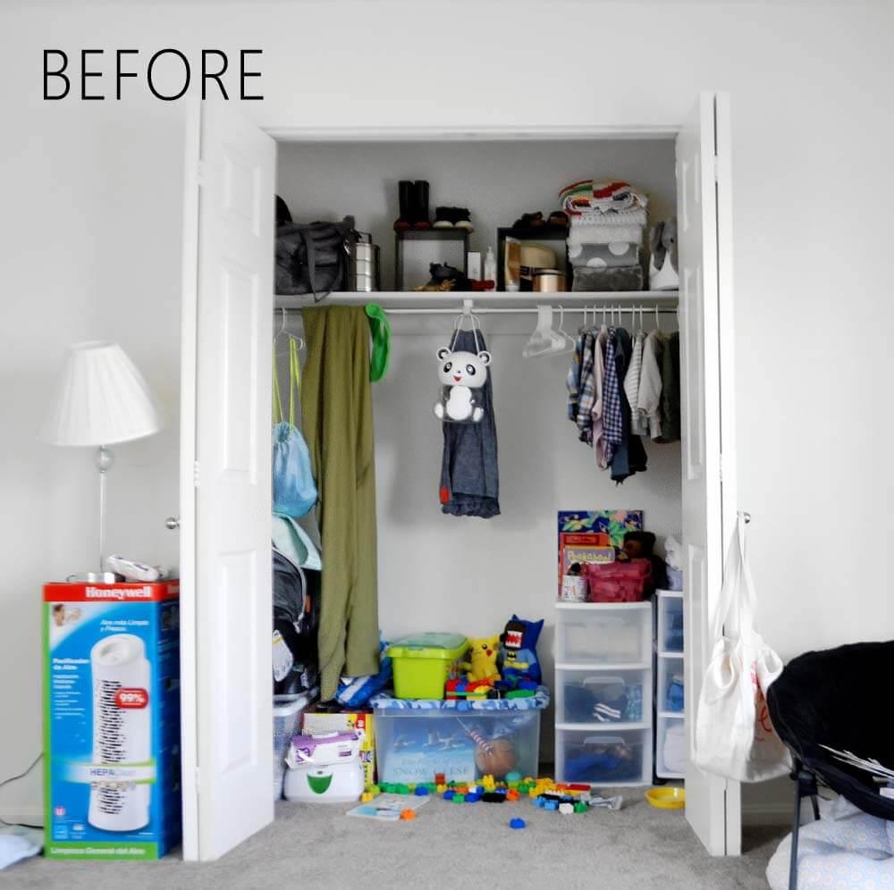 Kid's Closet Before