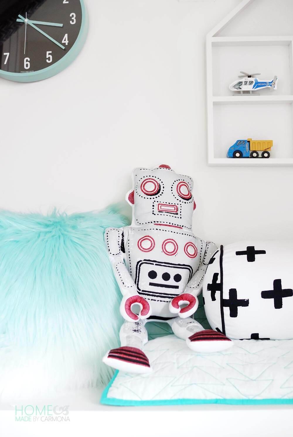 Kids Closet Play Nook - Mr. Robot Pillow