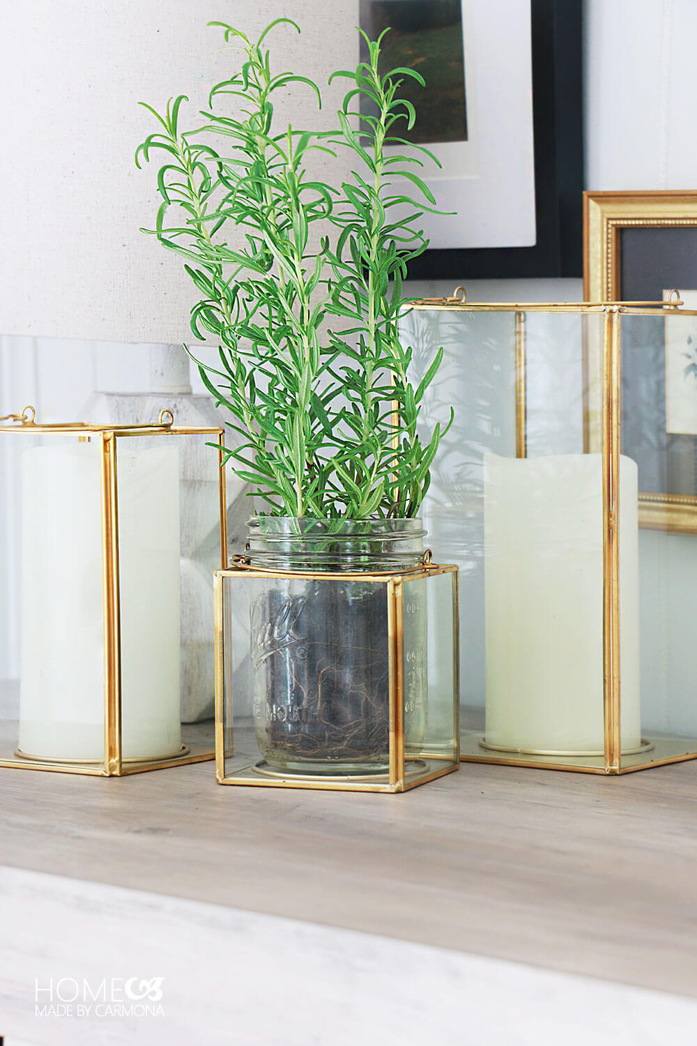 Gold-lantern-decor