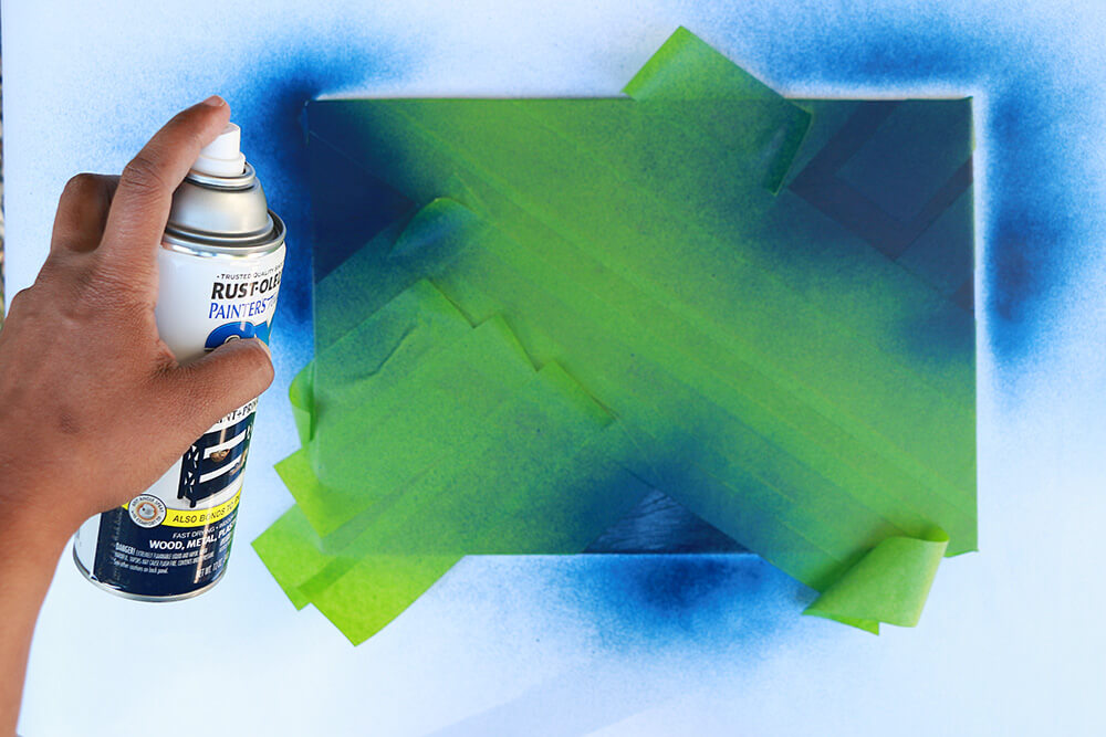 Spray-paint-blue