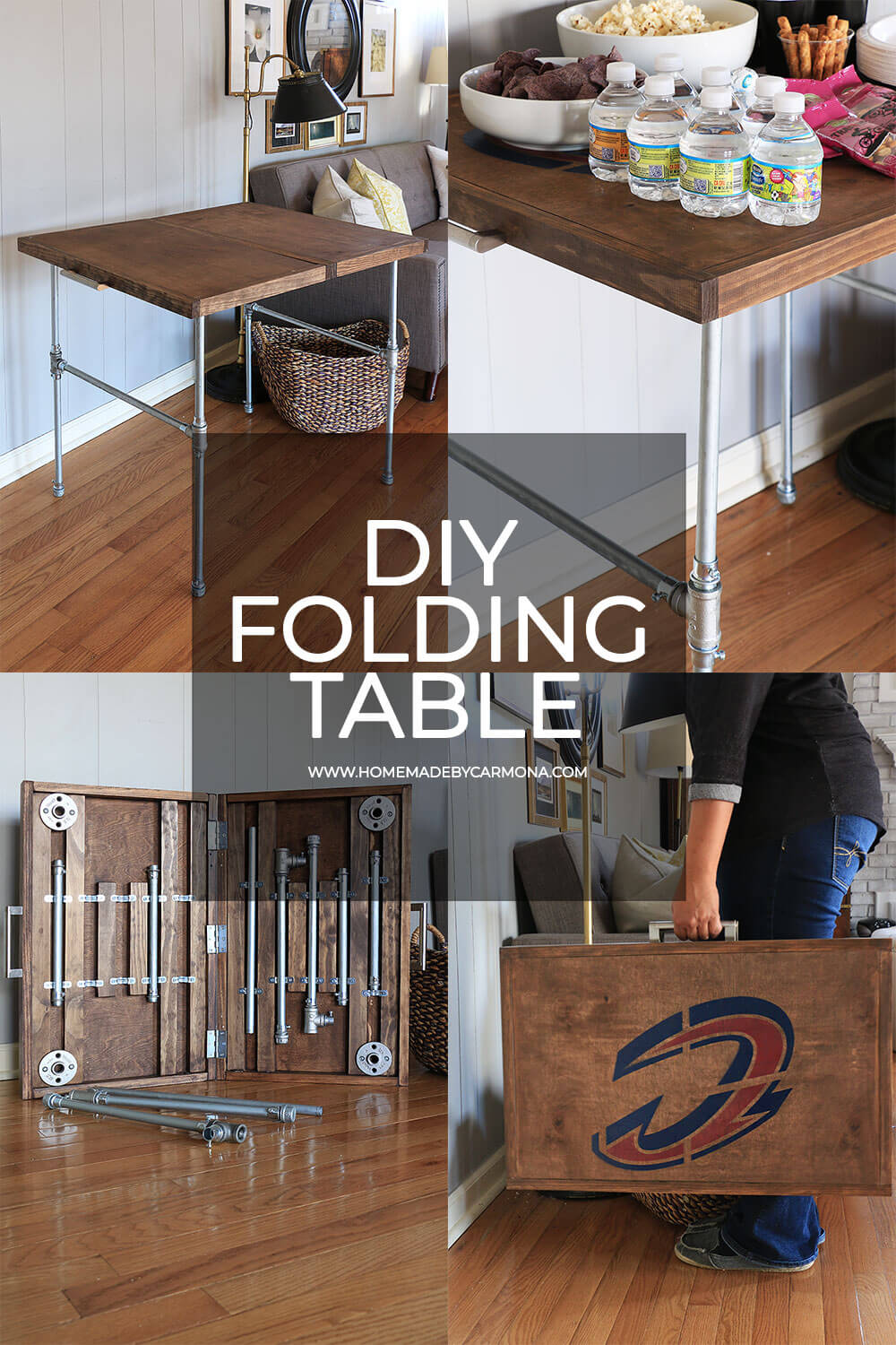 Diy Industrial Folding Table Home Made By Carmona
