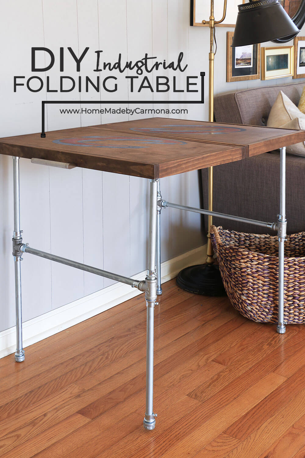 DIY Industrial Folding Table - Home Made By Carmona