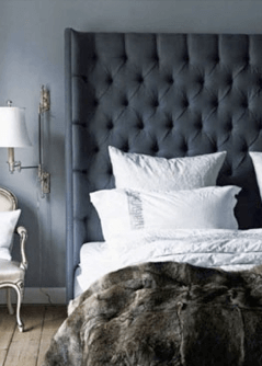 Dark tall headboard