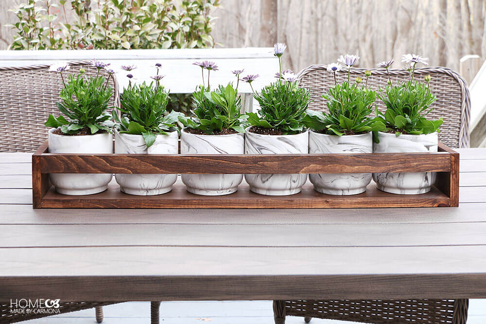 DIY planter holder tutorial