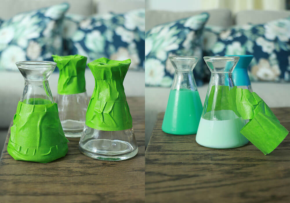 Spray-painted-jars