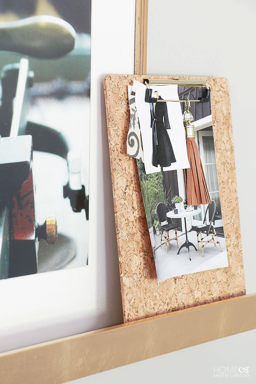 Gallery-wall-cork-clipboard