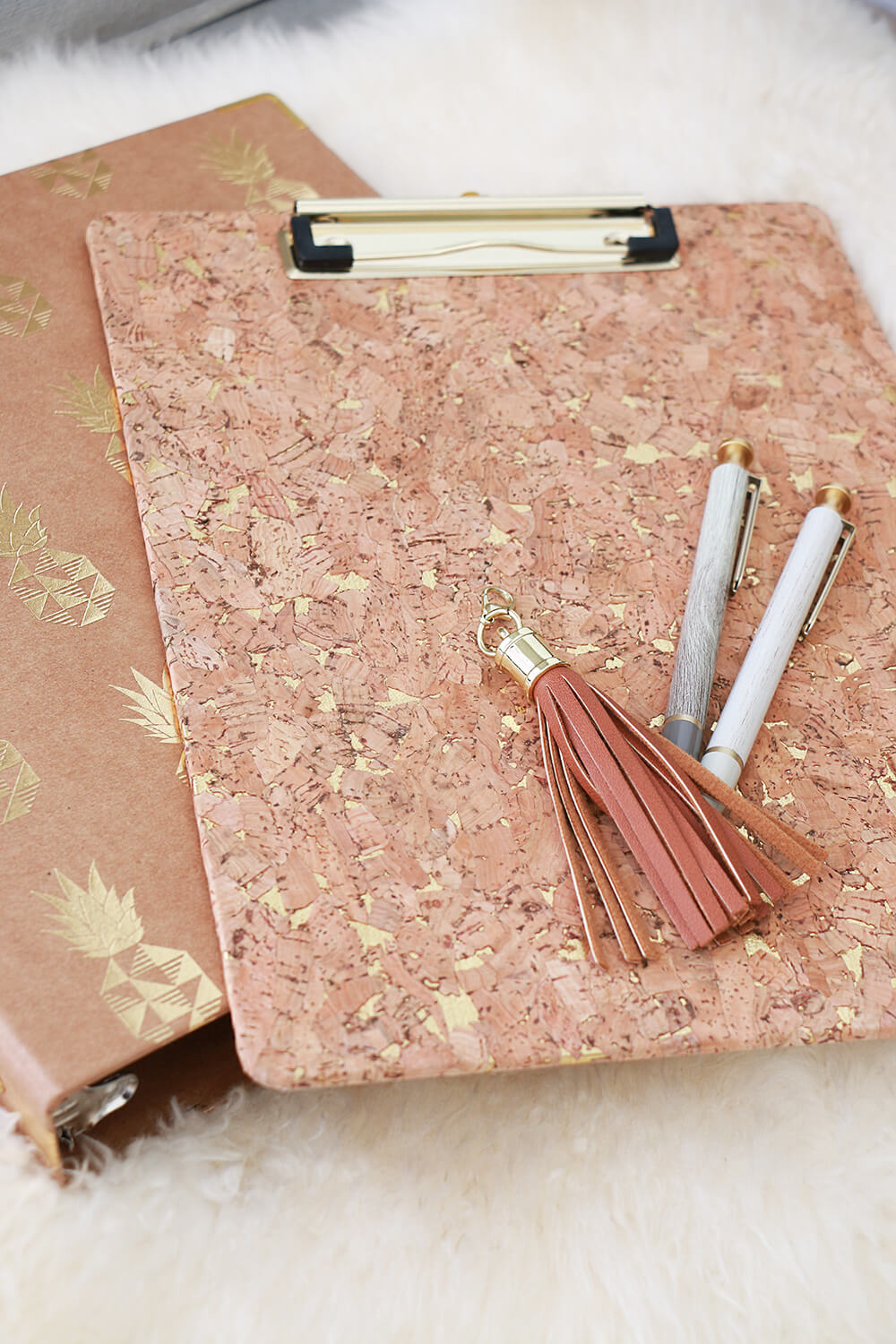 Gold flecked office supplies