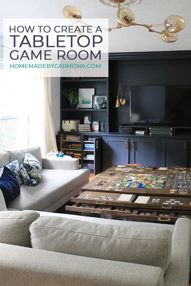 Game Room with boardgames