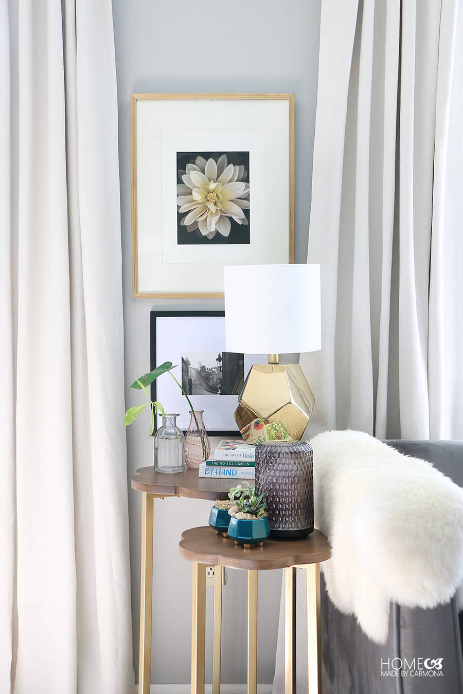 Wall-art-and-side-table-styled