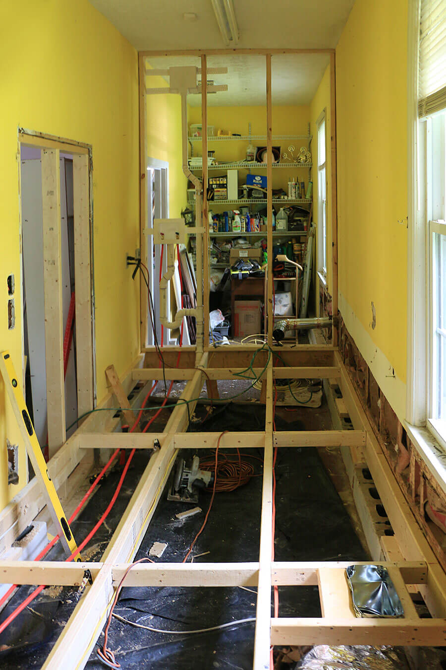 Framing-a-laundry-room