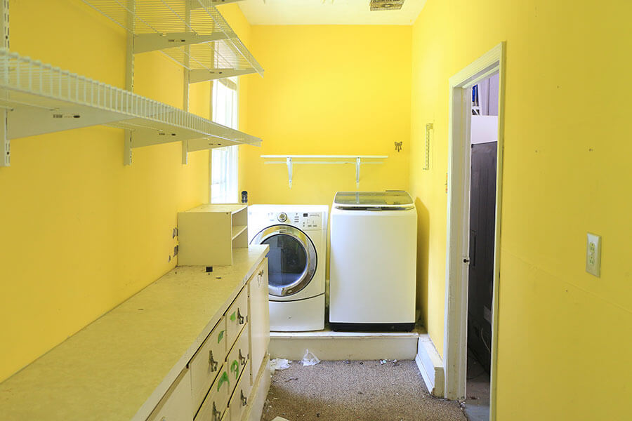 Yellow-laundry-room