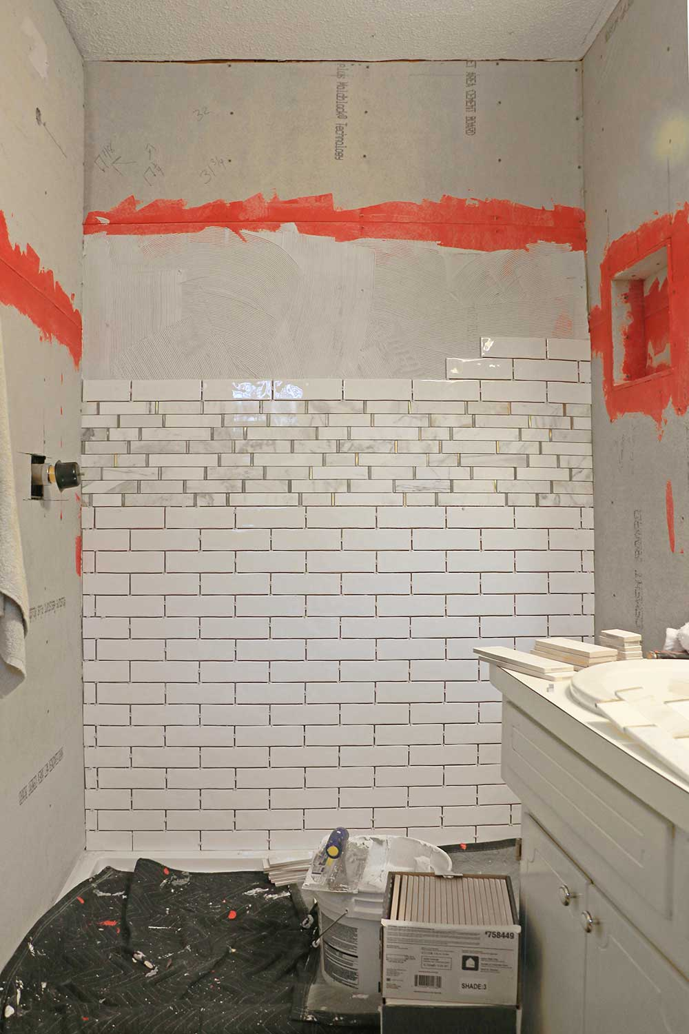 Half-tiled-bathroom-wall