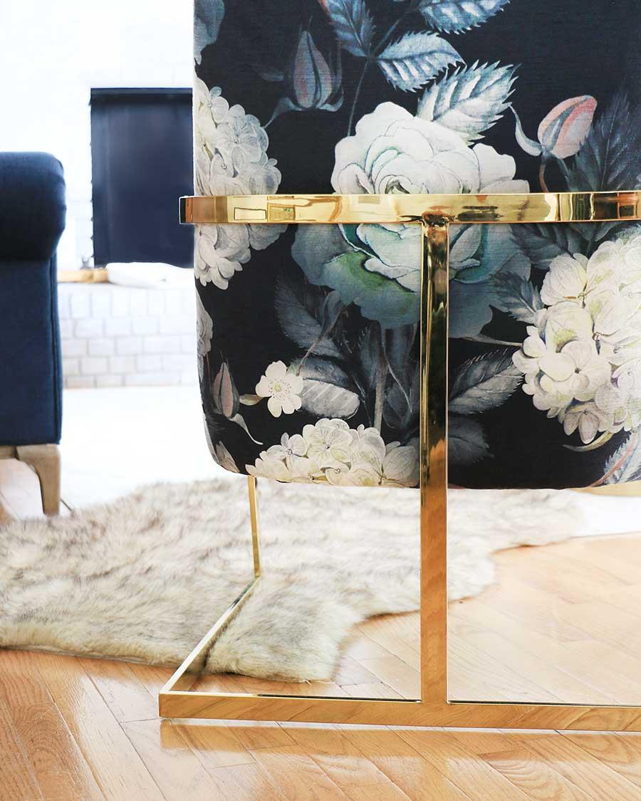Floral-armchair