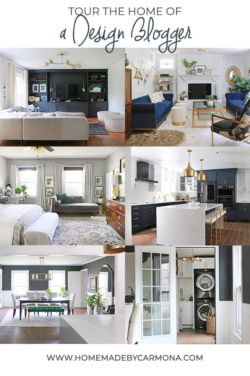 Whole House Tour of Design Blogger's home