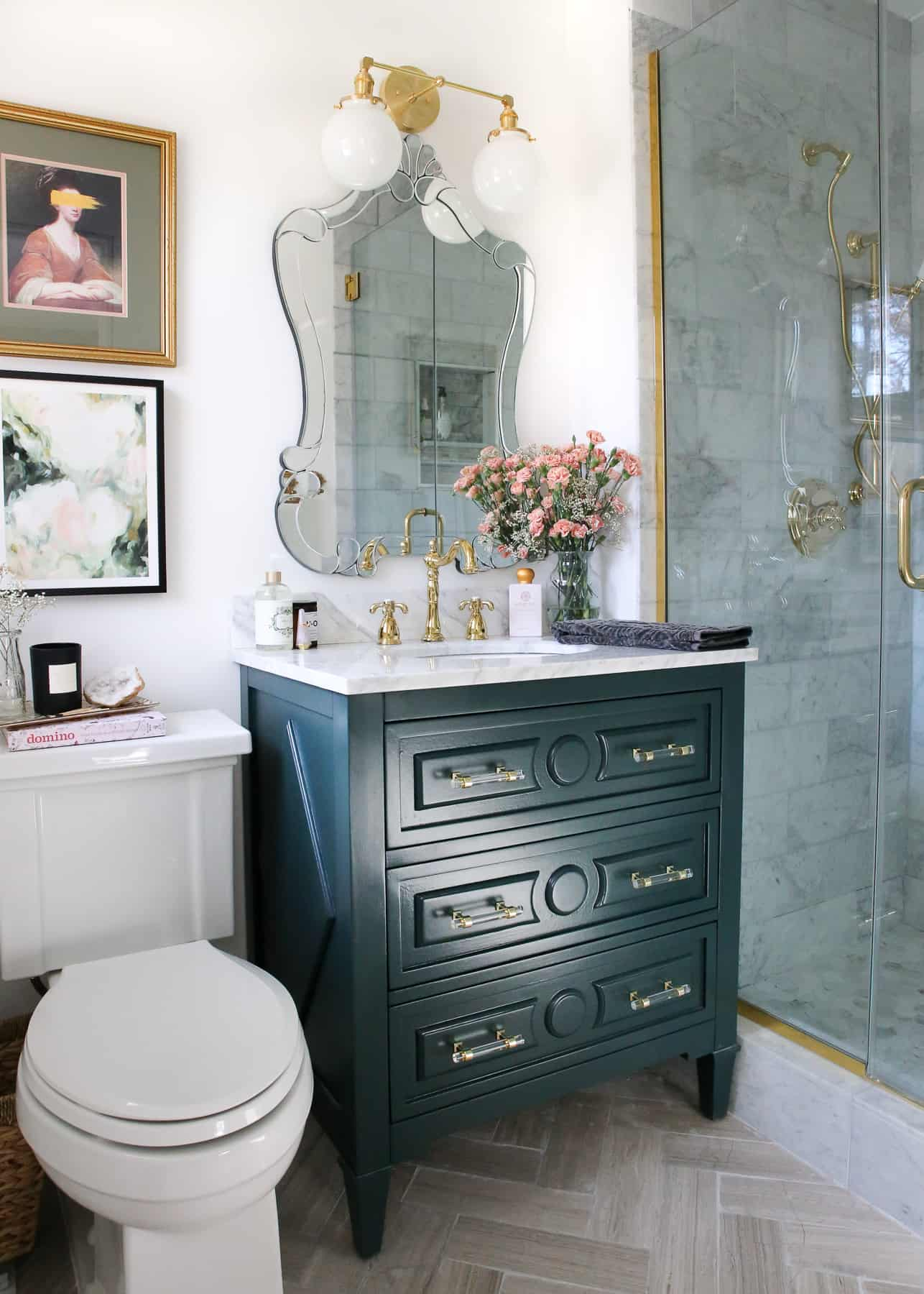 Aglassofbovino bathroom