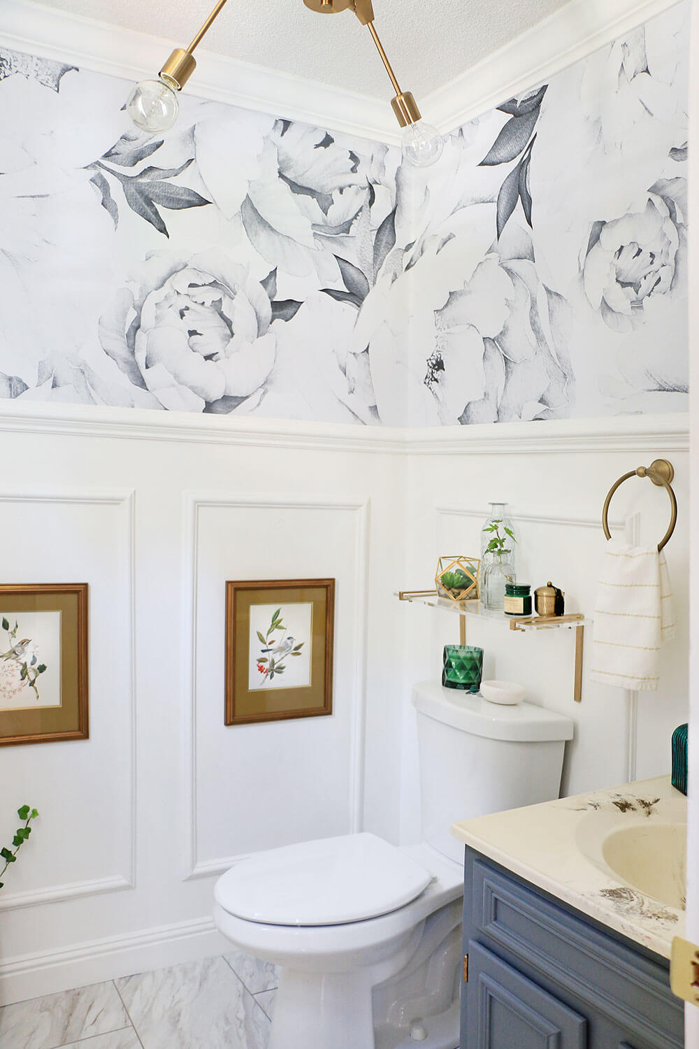 Parisian Inspired Powder Room Makeover Home Made By Carmona