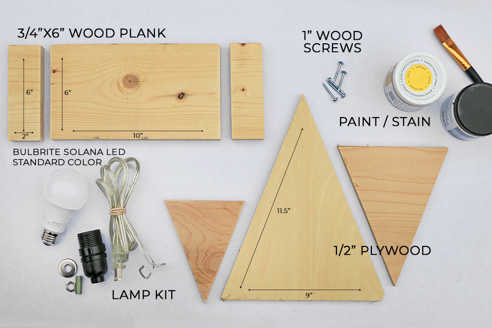 Materials-for-DIY-Mantel-Light