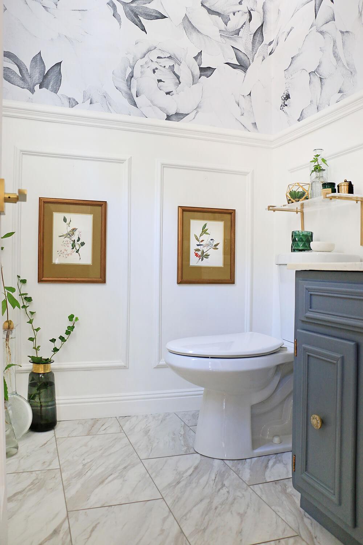 Parisian style powder room